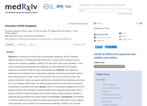 Anosmia in COVID-19 patients